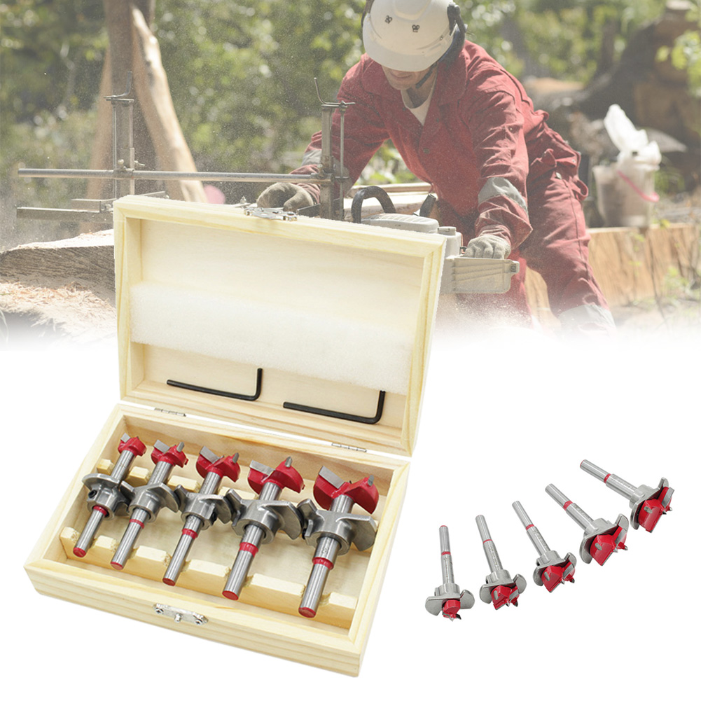 Woodworking Hole Set High-quality Alloy Forged Woodworking Sharp Reamer Auger Drill Hole Set Drilling Tool Kit 15-35mm SP99