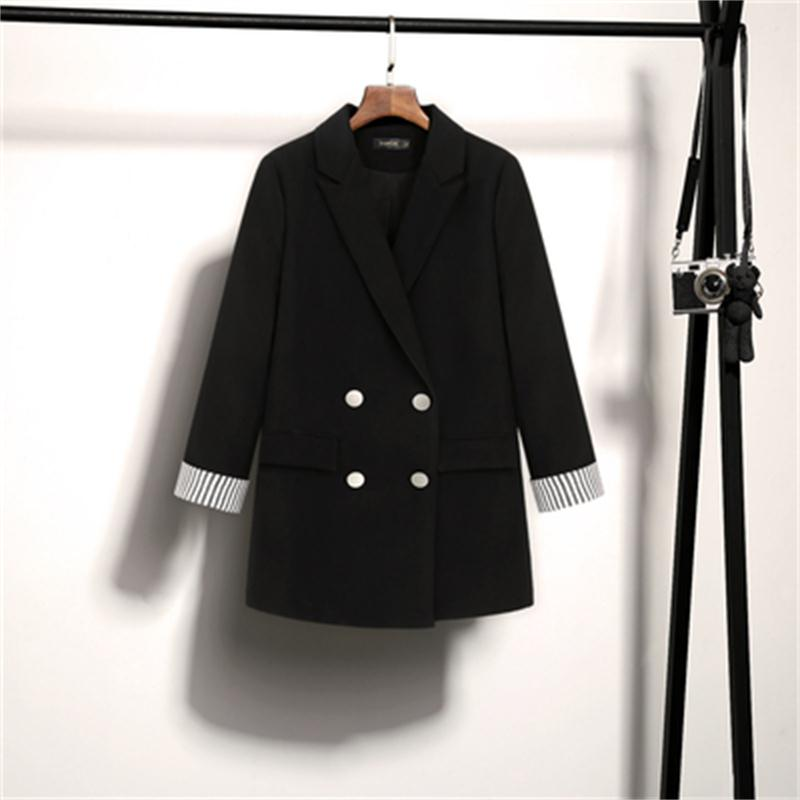 Fashion Suit Jacket Women Spring New High Quality Loose Black Increase Size Casual Business Suit Women Blazers Women Size M-5XL