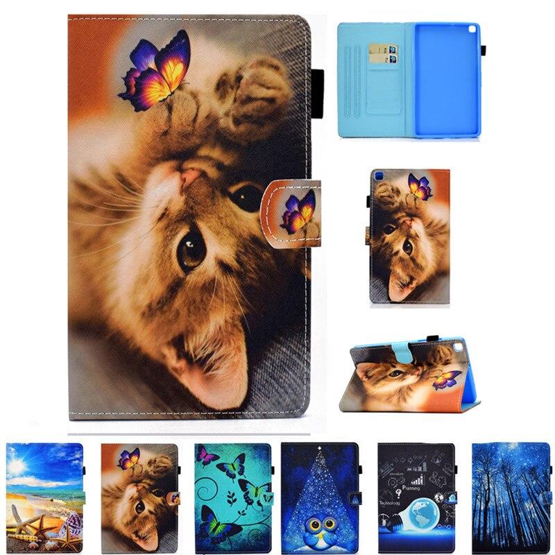 Магнитный чехол из ПУ кожи с рисунком для Samsung Galaxy Tab A 8,0 дюйма (2019), чехол с откидной крышкой для планшета T295 T297, чехлы с подставкой|Чехлы для планшетов и электронных книг|   | АлиЭкспресс