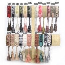 Friendship Bracelet For Women Men Adjustable Embroidery Tassel Bracelets Vintage Couple Braided Bracelet Jewelry 2021