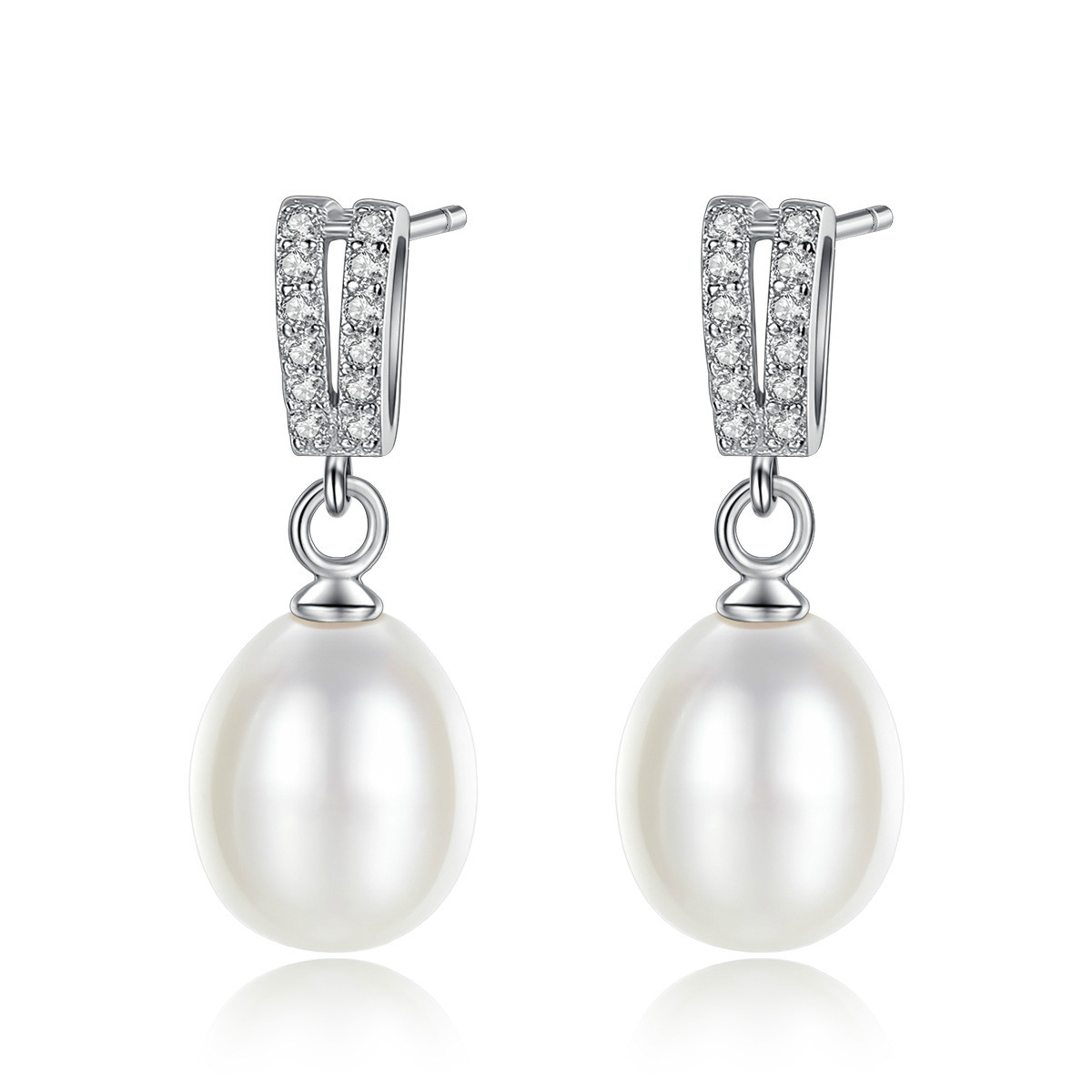 YUEYIN Silver 925 Earrings Micro Pave Cubic Zirconia Nature Pearl Dangle Earrings for Women Vintage Jewelry Women Earrings New in Earrings from Jewelry Accessories