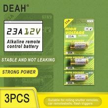 3 個新ドライアルカリ電池 23A 12v A23 ドアベルのための車の警報リモートコントロール 21/23 23GA A23 A-23 GP23A RV08 LRV08 E23A V23GA