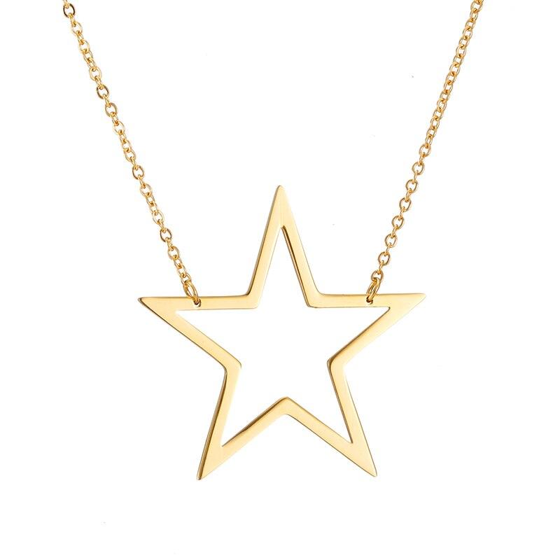 Collier étoile 40 or + 40 argent-creux