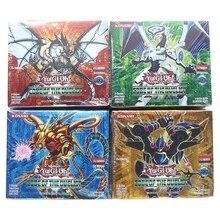 216 unids/set Yu Gi Oh juego de Cartas estilo Anime dibujos de Japón Yugioh Colección Caja de tarjeta niños juguetes para niños figuras