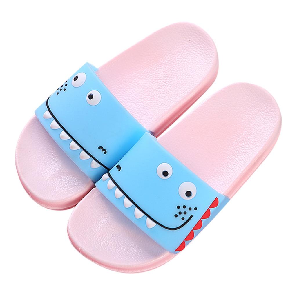 Xhan Cartoon Unicorn Printing Slippers Boys Girl Slip-on Sandals Kids Summer Flats Cute Home Flip Flops
