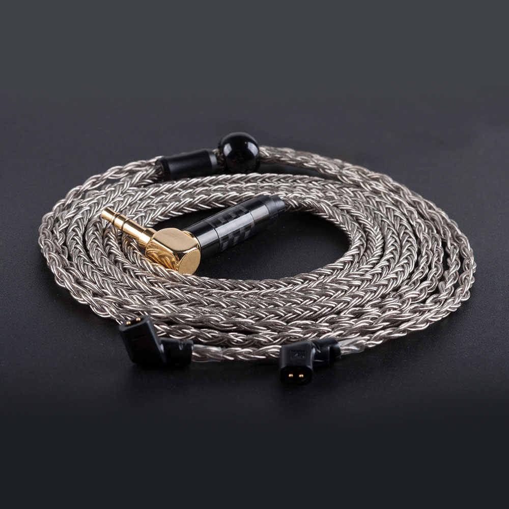 Hifihear 16 çekirdekli gümüş kaplama kablo 2.5/3.5mm dengeli kablo ile MMCX/2pin konnektörü bükme Jack V90 BA5 ZSX BLON BL03