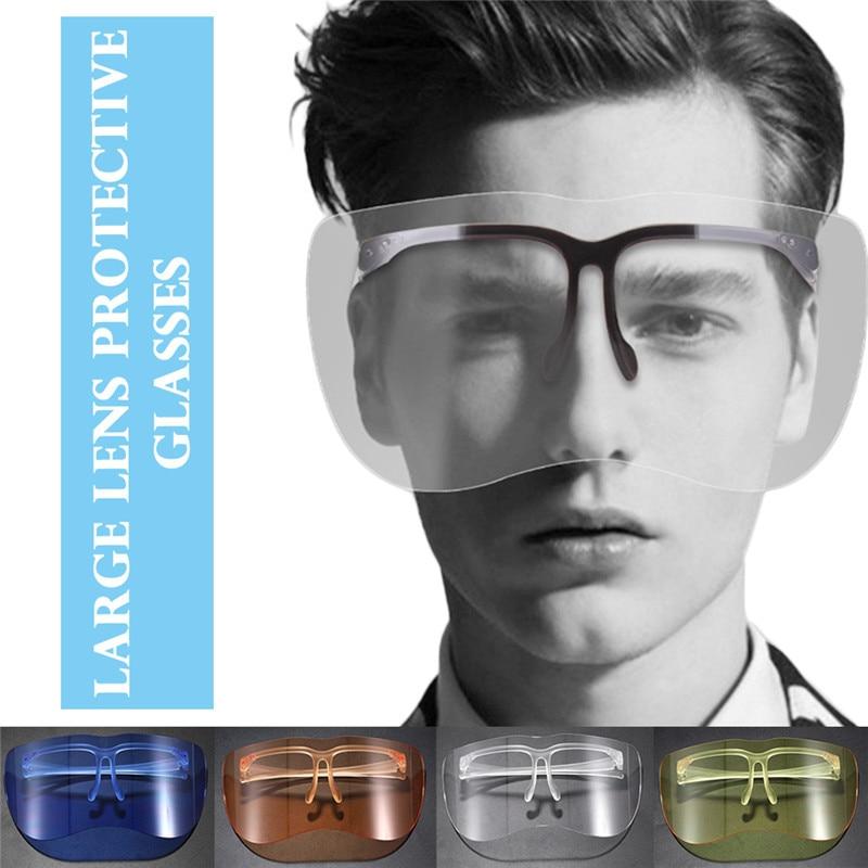 10 PCS Full Face Shield Visors 1 Frame Adjustable Detachable Dental Protective Mask Kit Anti-Fog Dustproof Lab Equipment(China)