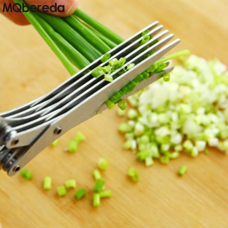 Vysoce kvalitní 1 sada ostrých nůžek kuchyňská nerezová ocel pětivrstvová střižná síla lesklý zápisek vícevrstvé nůžky
