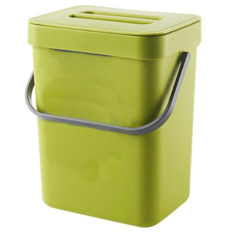 trash can with lid under sink green trash can plastic waste basket hanging waste bin for bathroom office waste compost bin for k