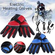12/72 V USB Winter Hand Warmer Electric Thermal Gloves Rechargeable Battery Heated Gloves Cycling Motorcycle Bicycle Ski Gloves 3000mah rechargeable battery pu leather windproof winter warm ski outdoor work motorcycle cycling electric heated hands gloves
