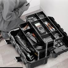 Black Hard Tool Case Impact Resistant Stackable Dividers Tool Kit with Storage Case Caixa De Ferramenta Tools Packaging DK50TB
