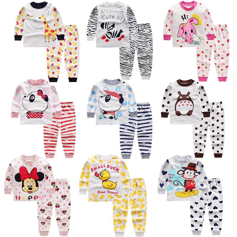 Spring 2020 New Animals Baby Girl Clothes Kids Pijamas Underwear Cotton Pajama Set Toddler Home Clothes For Boys Pijama Infantil