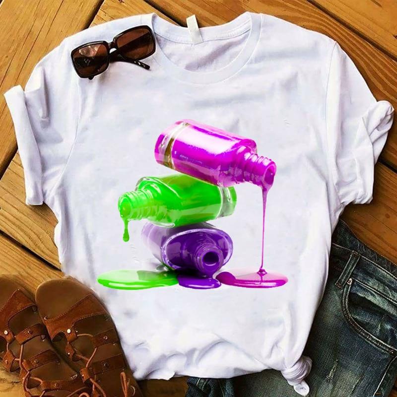 Women T Womens 2020 Graphic Finger Nail 3D Casual Cute Lady 90s Girl Summer Top Tshirt Tee Shirt Female Ladies Clothes T-shirt