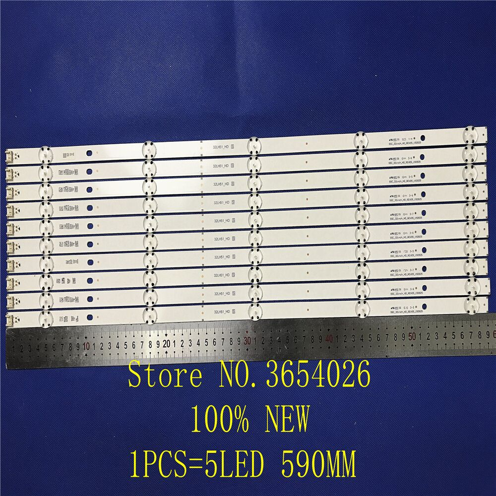 10 PCS 5LEDs 590mm LED Backlight Strip For LG 32LF510B Innotek Direct 32inch CSP 32LH510B 32LH51_HD S SSC_32INCH_HD