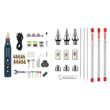 10 Pieces Airbrush Nozzle Needle Nozzle Cap Kit with Wrench Airbrush & 1set Rechargeable Speed Electric Grinder