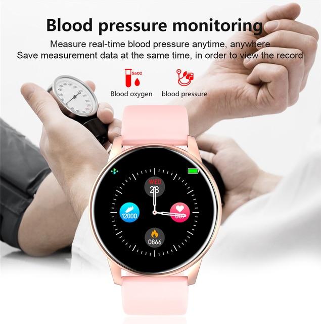 Women smart watch real-time weathe
