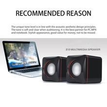 Мини Портативный Компактный стерео небольшой квадратный 3,5 мм аудио разъем для ноутбука Настольный USB Сабвуфер аудио музыкальный плеер встроенный усилитель