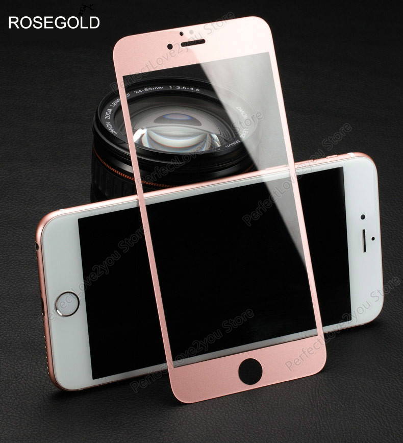 High Quality 9H Full Colorful Tempered Glass for IPhone SE 2020 5 5S 5C 6 6S 6Plus 6sPlus 8 7 Plus Screen Protector Film Case(China)
