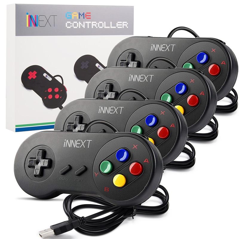 4pcs lot SNES USB Game Controller Gaming Gamepad for Nintendo SNES Game Pad for Windows PC MAC Raspberry