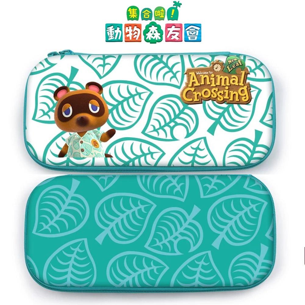 Портативная сумка для хранения в форме животных, чехол для Nintendo Switch, консоль NS Lite, переносная Дорожная сумка + колпачки для большого пальца + ...