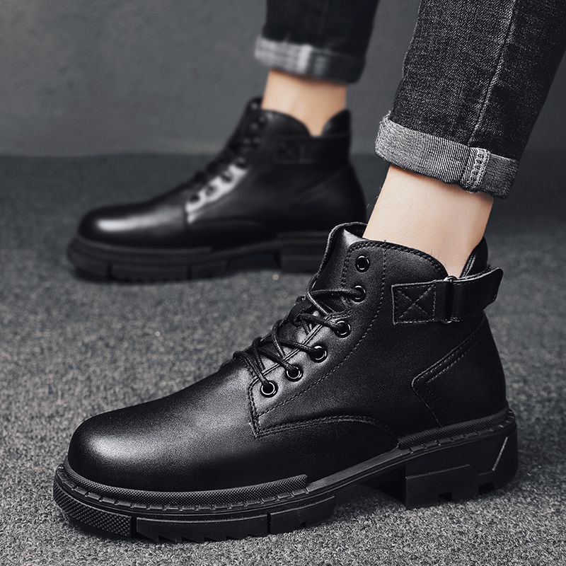 2019 Autumn And Winter Men's British Retro Martin Boots In The Non-slip Boots With Black Trend Men's Boots