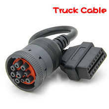 J1939 9pin to 16pin OBD 2 Tuck Cable 9 pin 16 PIN Female Deutsch Heavy Truck