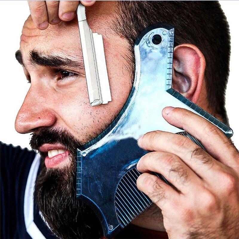 1Pc New Men Beard Template Beards Shaping Comb Styling Shaper Hair Beard Trim Shaving Guide Tool Makeup Beauty Tool Gift