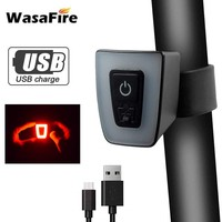 USB Rechargeable Bicycle Taillight Bike Rear Back Light 5 Modes Mini LED MTB Bike Helmet Lamp Safety Warning Flash Lights