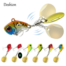 Deshion New Metal Mini VIB With Spoon Fishing Lure 8g/13g/16g/20g Tackle Pin Crankbait Vibration Spinner Sinking Bait
