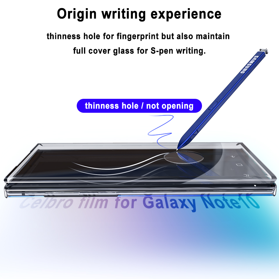 Image 2 - Tempered Glass For Samsung Galaxy Note 10 Plus Phone Glass Screen Protector Film For Samsung Note 10plus 10 Pro Protective Film-in Phone Screen Protectors from Cellphones & Telecommunications