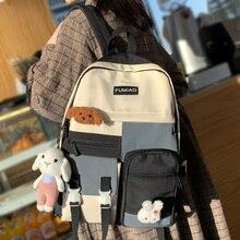 Kawaii Girl Harajuku Backpack Women Waterproof School Bag College Student Nylon Backpack Cute Book Female Bag Trendy New Fashion