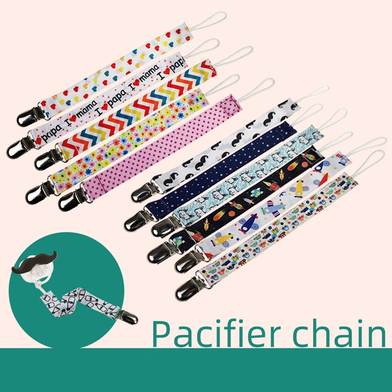 Pacifier-Chain Clip-Holder Dummy Baby Strap String Nipple-Leash with Nursing 8-Styles