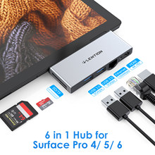 USB 3.0 HUB Multi USB to USB3.0 Port HDMI-compatible/ RJ45 Dock for Microsoft Surface Pro 4/5/6 Splitter Adapter card reader