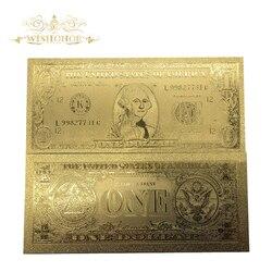 10 шт./лот Лучшая цена для американской Золотой банкноты 1 доллар 24K с гравировкой, копия золотой фольги долларов США коллекция денег