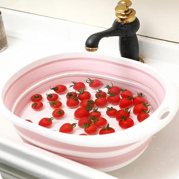 Przenośne umywalki kąpiel stóp umywalka uniwersalny dom na zewnątrz podróży składany zagęszczony trwałe plastikowe umywalki produkty łazienkowe tanie i dobre opinie Z tworzywa sztucznego 40 cm Ekologiczne Nieprzezroczyste