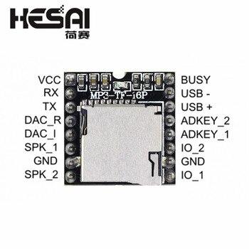 Módulo de reproductor MP3 DFPlayer Mini, tarjeta TF de apoyo, u-disk, puerto...