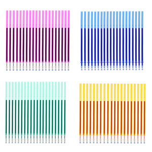 Erasable Pen Can Add 20 Sets / Set Of Gel Refills 0.5mm Magic Erasable Multicolor Ink Stationery School Office Writing Tools(China)