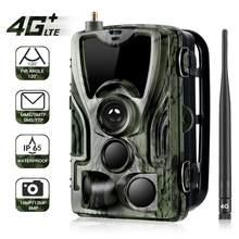 Caméra de chasse et de suivi des sentiers 4G MMS 20MP 1080P, sans fil, Surveillance de la faune, infrarouge 0.3s, Vision nocturne, piège Photo