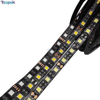 Черный PCB 5050 светодиодные ленты, DC12V, 60 Светодиодный/м, 5 м 300 светодиодный, IP20/IP65/IP67 водонепроницаемый, RGB, белый, теплый белый, красный, зеленый,...