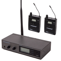 Stereo in ear monitor system, Excellent Personal ear monitoring with bodypack receiver, Limilter Equalizer Focus Lock functions