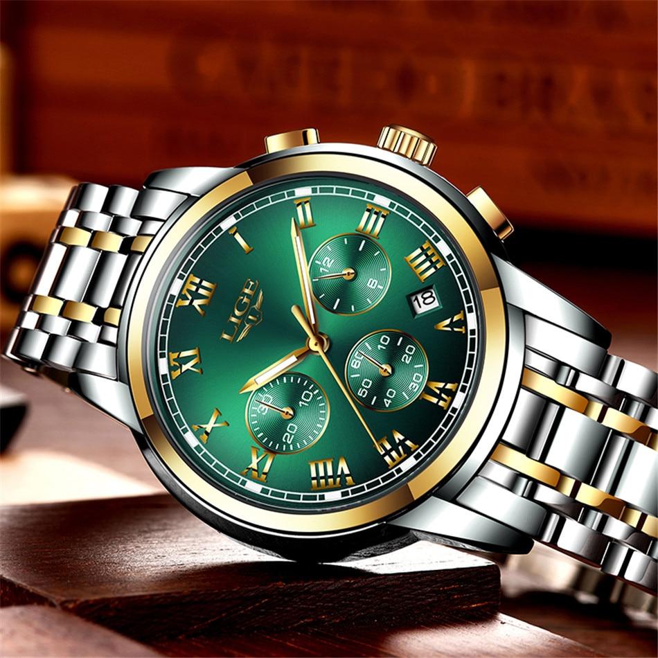 H31a6f55c23d24e5cbfd1835f11f8e777I Relojes Hombre LIGE New Watches Men Luxury Brand Chronograph Male Sport Watches Waterproof Stainless Steel Quartz Men Watch