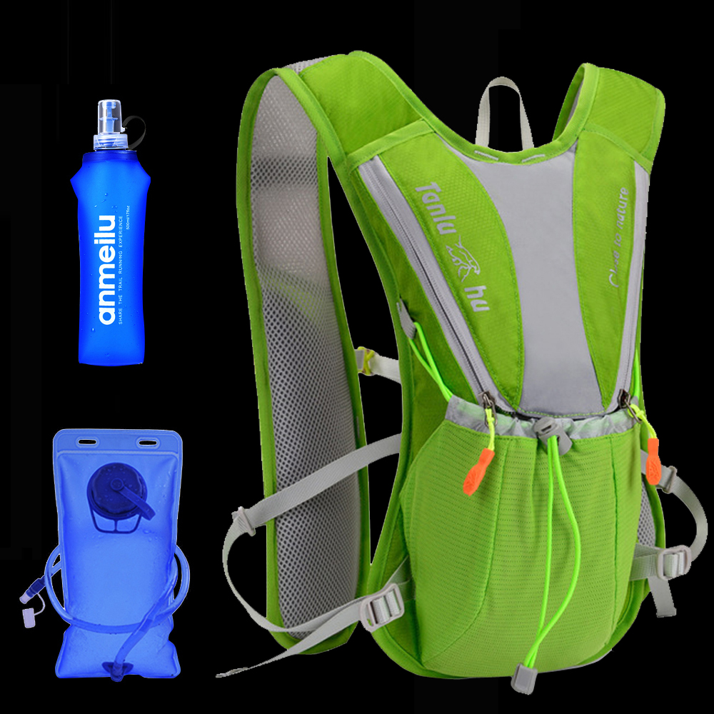 Women Men Bag Marathon Hydration Vest Pack 10L For 2L Water Bag Cycling Hiking Bag Outdoor Sport Running Backpack