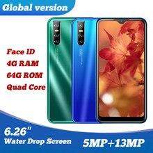 9C oryginalny smartfonów czterordzeniowy 13MP 4G RAM 64G ROM IPS duży ekran 6.26