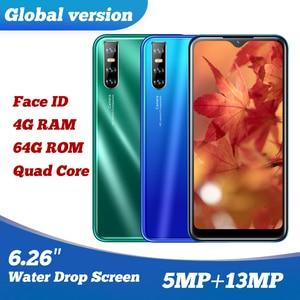 9C Original Smartphones Quad Core 13MP 4G RAM 64G ROM IPS Big Screen 6.26