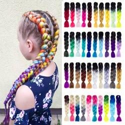 Kanekalon плетение синтетические накладные волосы волос 100 г/упак. 24 дюйм(ов) jumbo плетеные косы оплетка волос