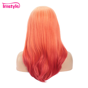 Image 3 - Perruque Lace Front Wig synthétique rouge ombré Imstyle