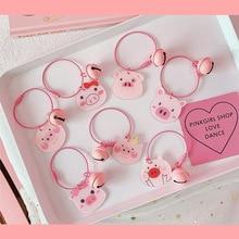 2019 New cute pig led Key Chains flashlight sound rings Creative kids toys pig cartoon sound light Keychains child Gift цена