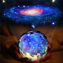 Светодиодный ночной Светильник звездное небо Magic Star Moon планета лампы проектора Вселенной Детские светильник для подарка на день рождения светодиодный ночной Светильник