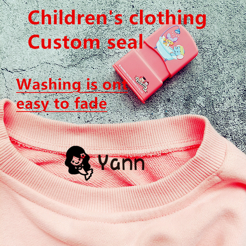 Cloth-Stamp MARKER Label Stamp-Fabric Children's-Seal Custom Baby Waterproof Cartoon