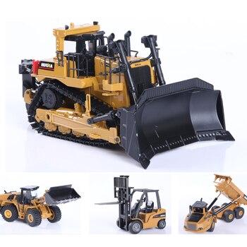 Huina 150 diecast modelo liga simulação veículo carro fundido caminhão basculante bulldozer roda carregadeira escavadeira crianças brinquedo colecionáveis